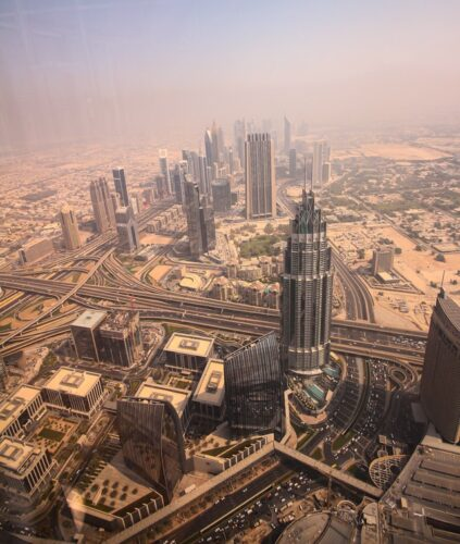 View from Burj Khalifa before sunset during non-prime hours