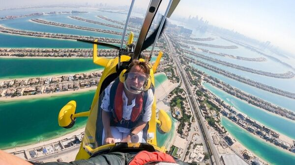 Over the Palm Jumeirah Island