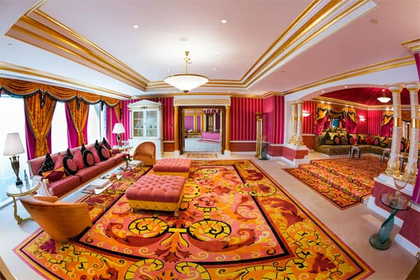 majlis style room in royal suite